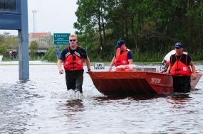 Flooding in Louisiana. Photo credit: Petty Officer 2nd Class Bill Colclough, U.S. Coast Guard