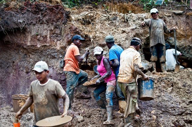 Mining for gold in South America