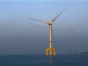 An offshore wind turbine off Germany's coast