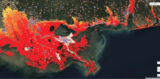 Storm surge in New Orleans