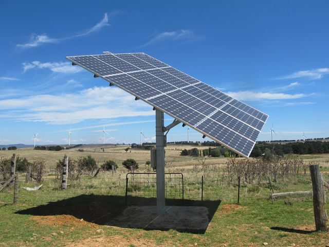 solar panels in the bush