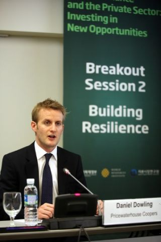 Daniel Dowling of PriceWaterhouseCoopers was part of a week-long climate finance event in Songdo, South-Korea.