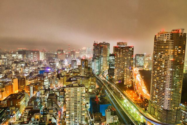 Tokyo city view at night