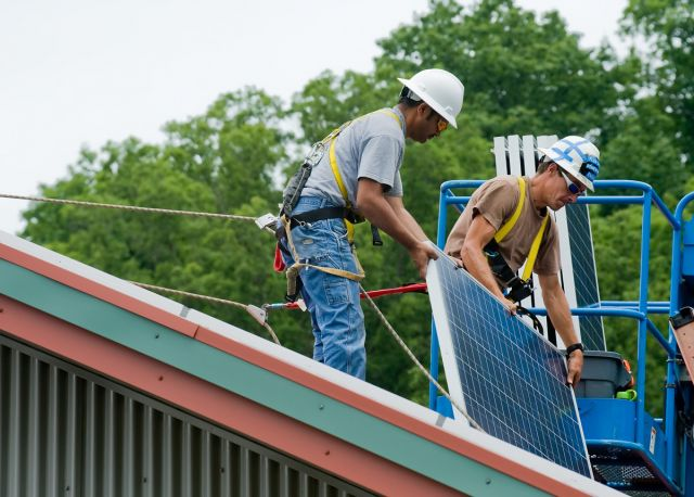 Wayne National Forest Solar Panel Construction