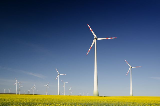 A wind farm in Austria.