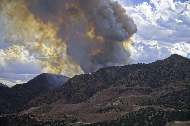 YMCA Mountain fire, Colorado, July 2020