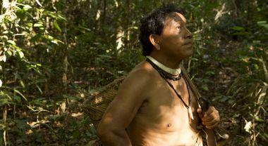 Yudja man in Amazon forest