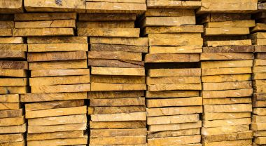 Lumber waiting to be sold. (Flickr/CIFOR)