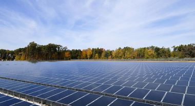 Field of solar panels in Ohio