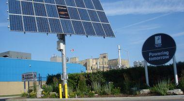 Solar panels in London, Ontario.