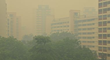 Singapore during the 2013 haze crisis. Photo by Choo Yut Shing/Flickr.