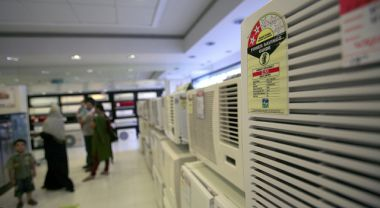 Energy star rated appliances at white goods retail store Vijay Sales in Midway Mumbai, India.