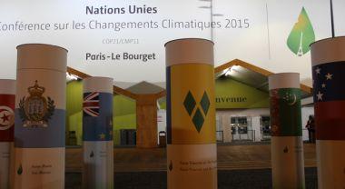 Entrance to Paris climate conference. Photo credit: WRI
