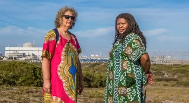 Liz McDaid and Makoma Lekalakala. Photo: Goldman Environmental Prize