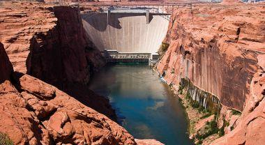 Glen Canyon Dam in the Colorado River Basin. Photo credit: James Marvin Phelps