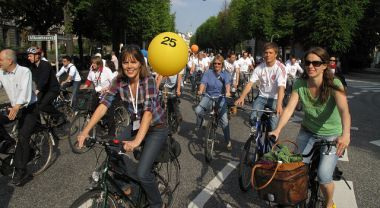 Bicyclists in Copenhagen, Denmark. Photo by Martti Tulenheimo/Flickr
