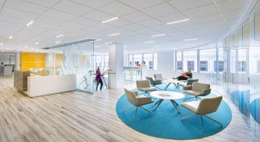 WRI office renovated lobby