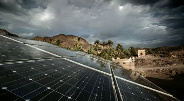 A solar array in Morocco