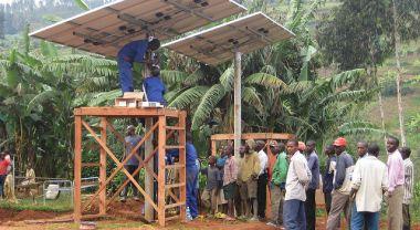 A solar installation in Kirambo, Rwanda. Photo credit: SolarEnima, Flickr