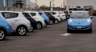 Electric vehicle fleet at Los Angeles Air Force Base