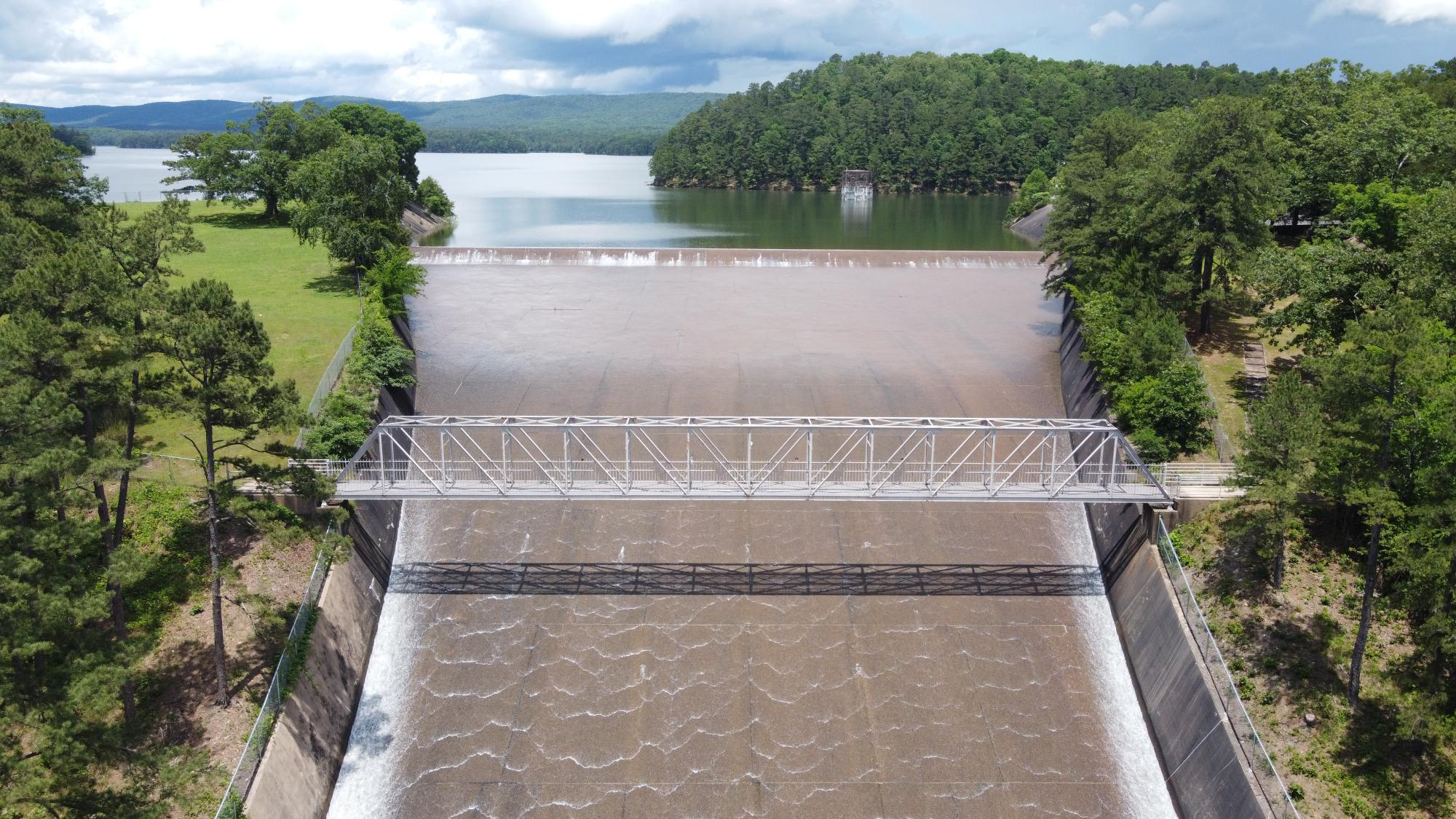 <p>Lake Maumelle now stands as a prime example of green-gray infrastructure. Photo by Central Arkansas Water</p>