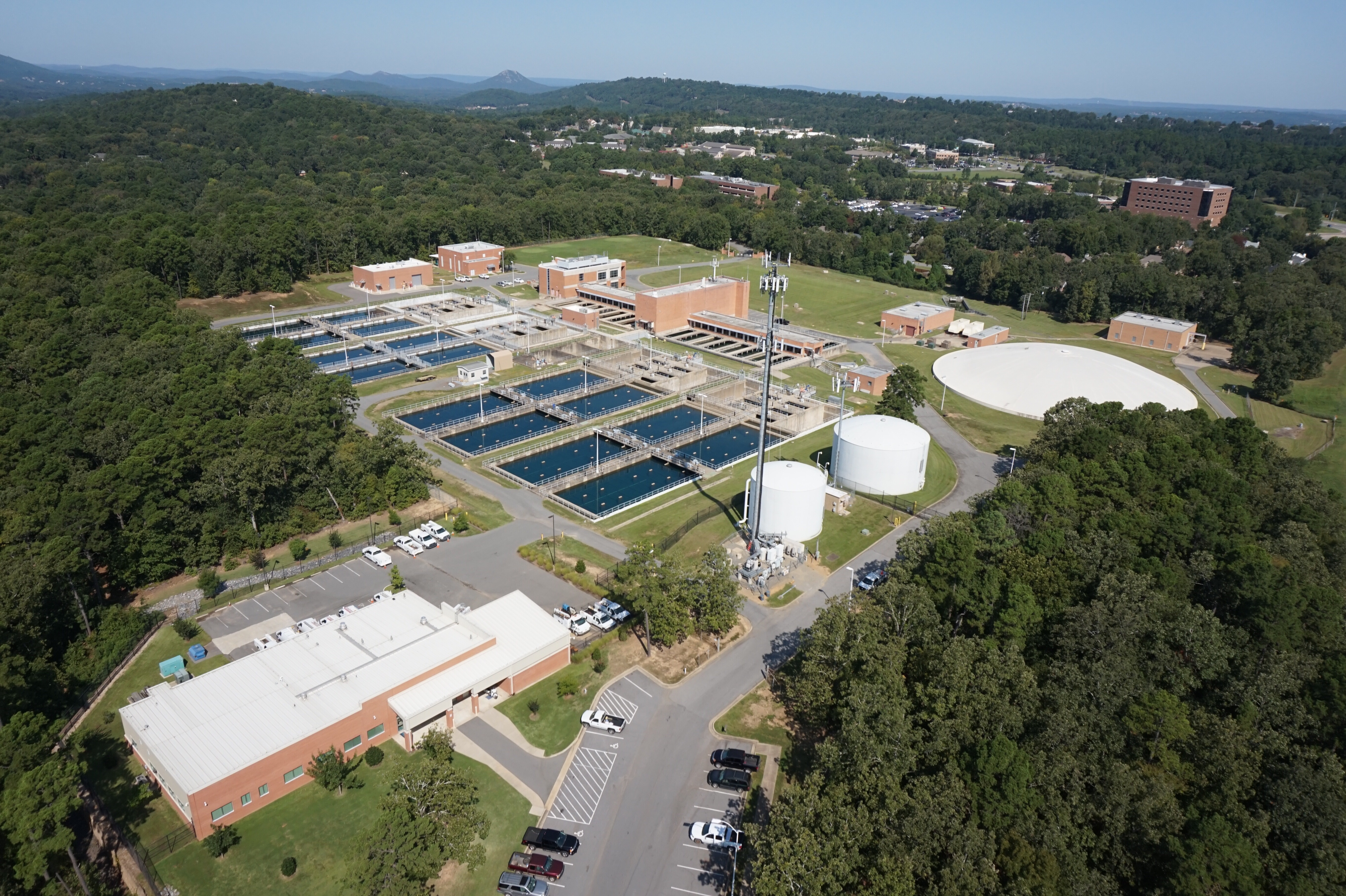 <p>CAW\'s water treatment facility in Little Rock. Photo by Central Arkansas Water</p>