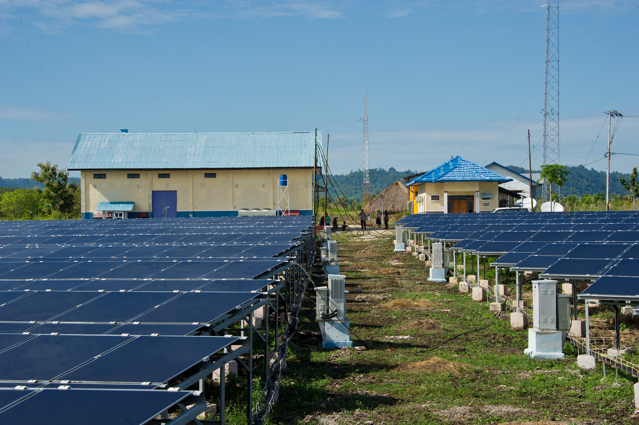 <p>Renewable energy systems like these solar panels in Indonesia are expanding access to electricity in Southeast Asia. Photo by Asian Development Bank.</p>