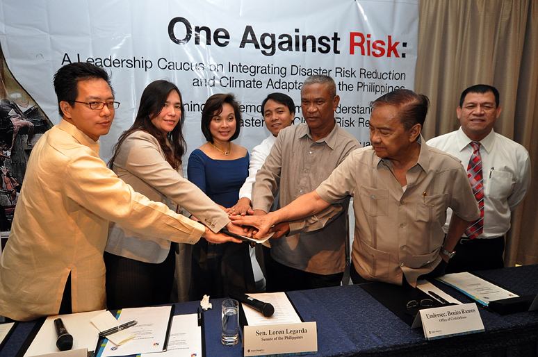 <p>Political leadership and official policies to incorporate climate change into disaster risk management can save lives. Photo by UNDRR.</p>