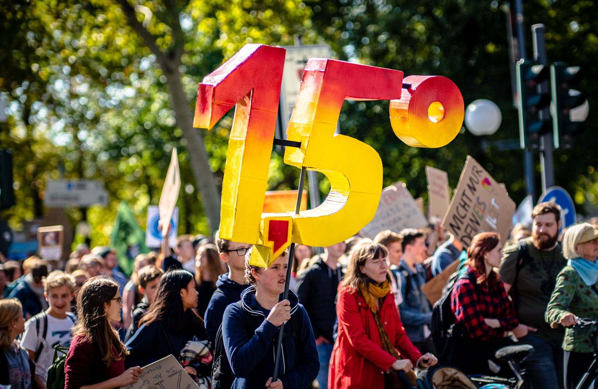 <p>2019 was a major year for activism, including this protest in Germany. Can 2020 lead to even greater action? Photo by Mika Baumeister/Unsplash</p>
