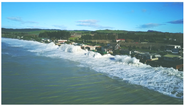<p>An adaptation strategy in the Hawke\'s Bay region of New Zealand will protect local community members from the impacts of storms and coastal erosion, while also preventing substantial economic losses. Photo by Tim Whittaker Photography</p>