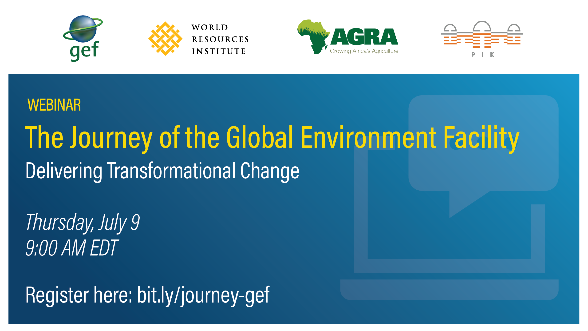 Webinar: The Journey of the Global Environment Facility: Delivering Transformational Change